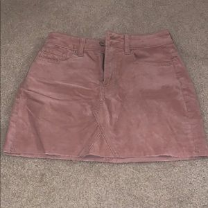 Pink suade skirt